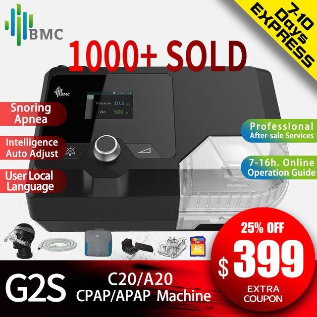 BMC חדש כניסות CPAP מכונת G2S C20/A20 Homeuse רפואי ציוד עבור שינה נחירות ונשימה עם NM4 מסכה ואדים