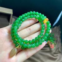 Natural Green Jasper Russia Origin Jasper Beads 6mm Bracelets Multi Layers Female Beads Bracelets for Women