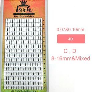 Image 4 - MASSCAKU 16lines Premade Russian Volume Fans 2d/3d/4d/5d/6d Eyelashes Long Stem Lash Pre made Eyelash Extensions Supplies