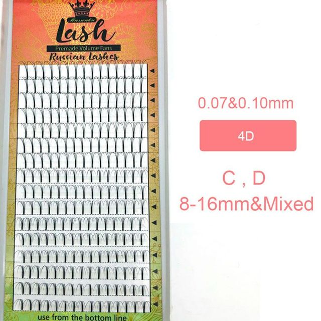 MASSCAKU 16lines Premade Russian Volume Fans 2d/3d/4d/5d/6d Eyelashes Long Stem Lash Pre made Eyelash Extensions Supplies 3