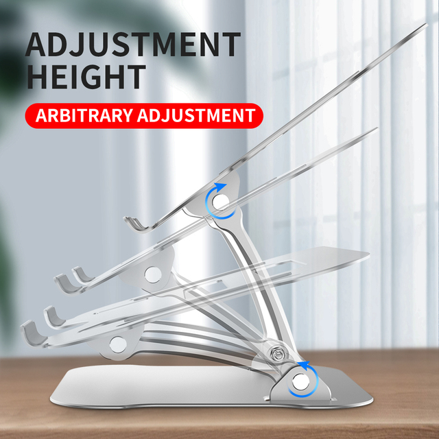 11 17inch Cooling Rack Folding Adjustable Angle Aluminum Alloy Desktop Portable Holder Office Universal Non Slip