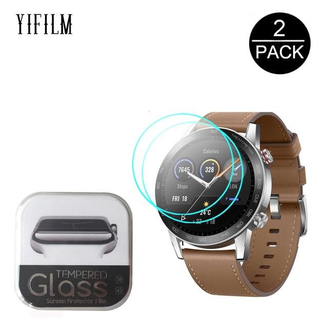 Protector de pantalla de vidrio templado 2.5D para Huawei Honor Magic Watch 2 GT 2 GT2 42mm 46mm GS Pro, película protectora de pantalla
