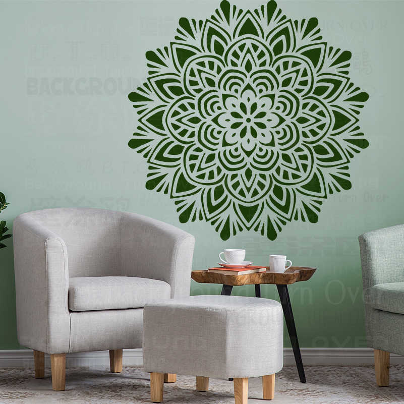 80 120 Cm Mural Stencil Furniture Mandala Arabic Indian Decor Paint Big Large Wall Flower Ethnic Decoration Templates S011 Aliexpress