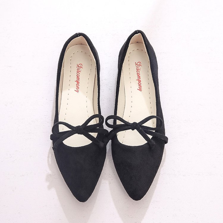 Women's Shoes Spring Pointed Korean Students New And Summer Shallow Knot Joker Butterfly