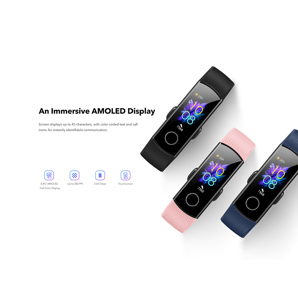 H82cc6945bcb44df8a97abad511ec467do Huawei Honor Band 5 Fitness Bracelet BT4.2 Sleep Real-Time Heart Rate Monitoring Waterproof Smart Watch Multiple Sports Modes