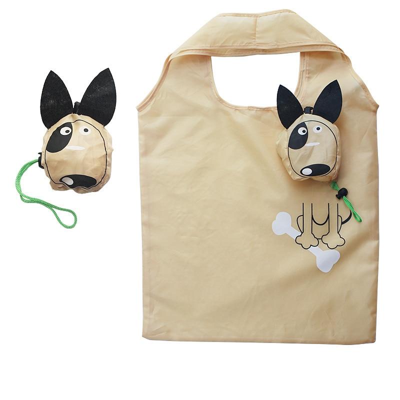 New Animals Cute Dog Useful Nylon Foldable Folding Eco Reusable Shopping Bags 2019 Hot Sale