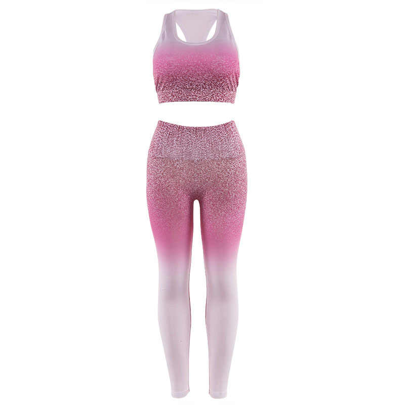 Women Yoga Leggings Sexy Bra Tops Gym Sports Fitness Compression Set High Waist Running Pants Workout Sportswear Jogging Suits