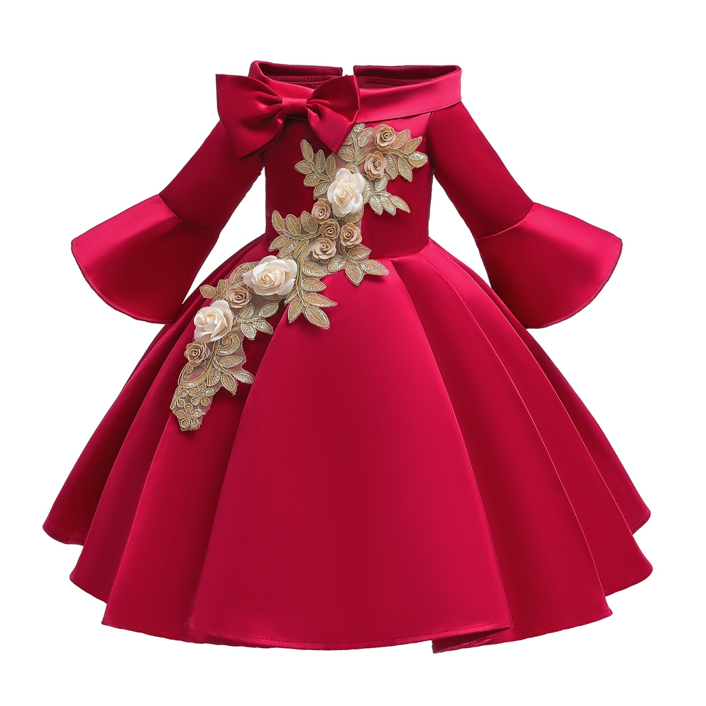 Girls Dress Elegant clothing New Princess Children Party Dress Wedding Gown Kids Dresses for Girls Party Dress Vestido Wear