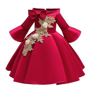 Girls Dress Elegant clothing New Princess Children Party Dress Wedding Gown Kids Dresses for Girls Party Dress Vestido Wear