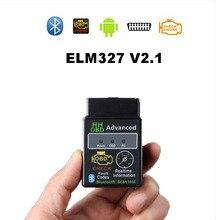 OBD2 HH OBD ELM327 V2.1 Bluetooth OBD2 OBDII Có Thể BUS Kiểm Tra Động Cơ Xe Hơi Tự Động Quét Chuẩn Đoán Giao Diện Adapter Dành Cho android