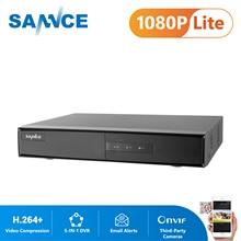 SANNCE 4CH 5IN1 1080N טלוויזיה במעגל סגור DVR מקליט וידאו דיגיטלי אבטחת בית מעקבים מערכת H.264 + HDMI P2P גישה מרחוק