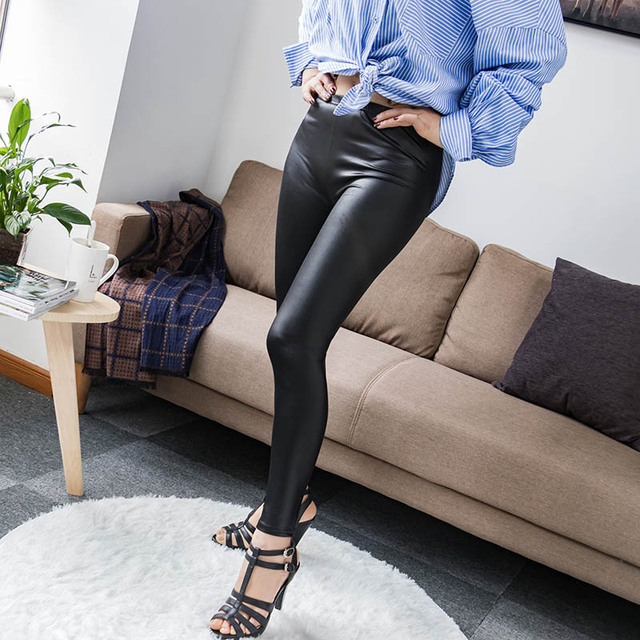High Waist Faux Leather Leggings 8