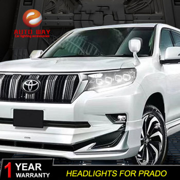 Car Styling Head Lamp Case for Toyota Prado 2018 ALL LED HeadlightsLED High Beam LED Low Beam With Dynamic Turn Signal