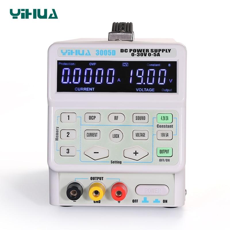 Yihua 150w 3005d 5a 30v dc fonte de alimentação ajustável fonte de alimentação de laboratório