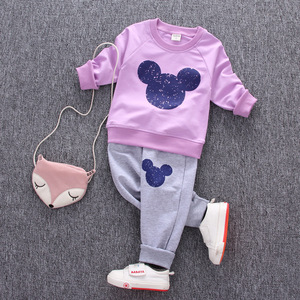 Image 4 - 1 2 3 4 Year Children Clothing Set Long Sleeve Shirts + Pants Kids Clothes for Boys Spring Fall Girls Suits Baby Toddler Costume