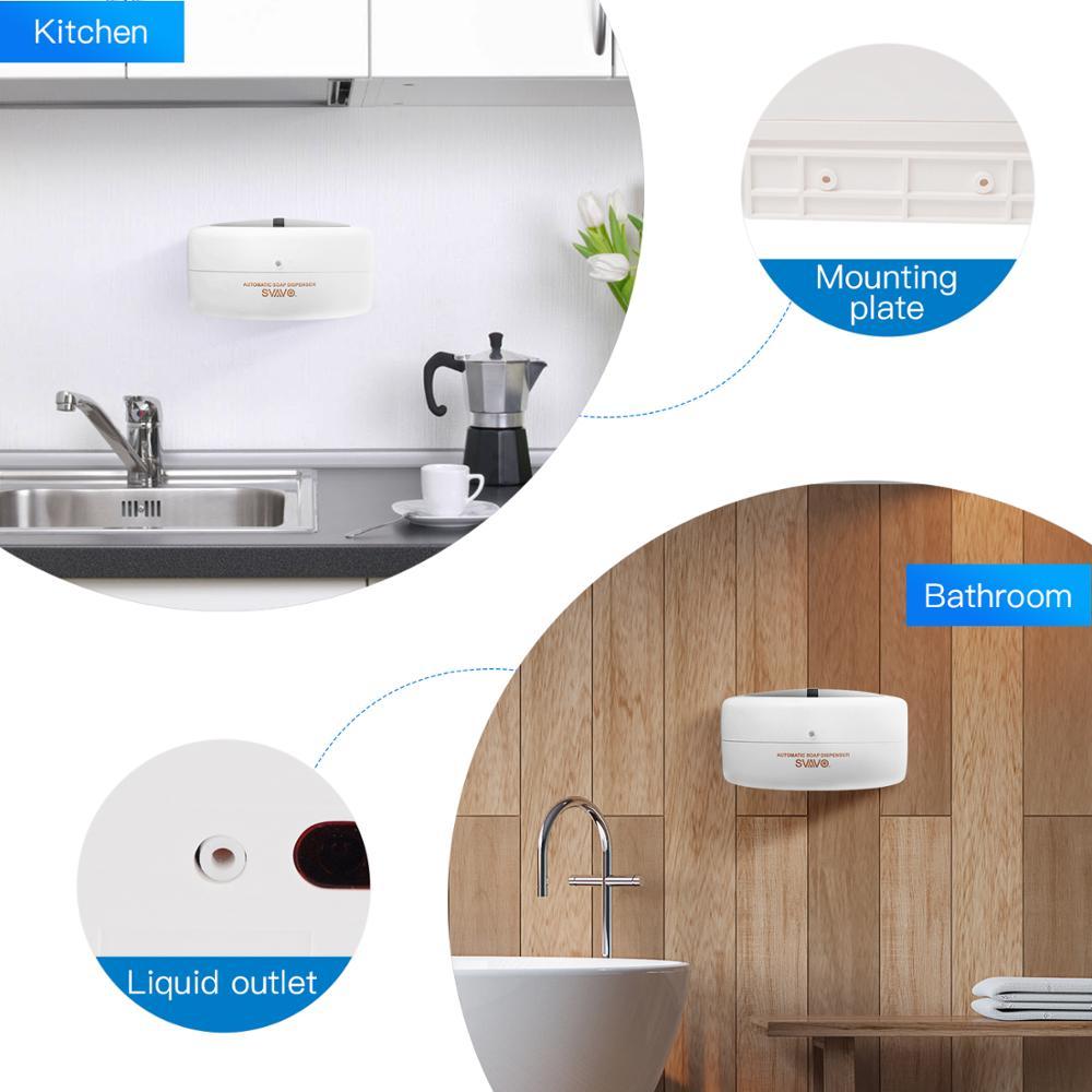 Купить автоматический настенный дозатор жидкого мыла svavo с инфракрасным
