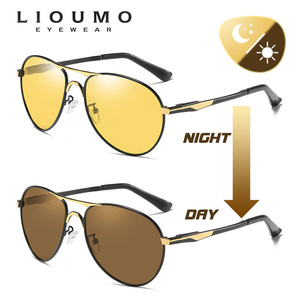 Image 3 - 2020 חדש טייס משקפי שמש גברים מקוטב Photochromic משקפיים נשים יום ראיית לילה נהיגה משקפי UV400 LENTES דה סול hombre