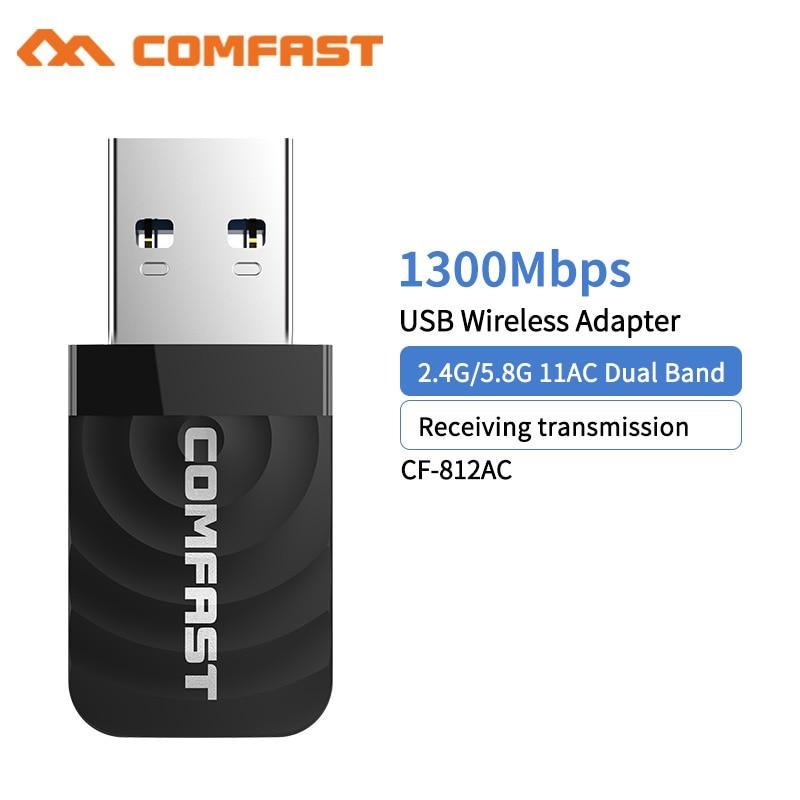 1300Mbps Mini USB Wifi Netzwerk Karte Dual Band Wifi Adapter 2,4G/5,8 GWireless AC Adapter für WindowsXP /Vista/7/8/10 OS