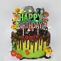 1 шт. с изображением героев «Plants VS Zombies торт Топпер Happy День рождения украшения для детей День рождения поставки Топпинг для кексов