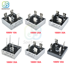 5Pcs/lot KBPC5010 KBPC1510 KBPC2510 KBPC3510 GBPC3510 Diode Bridge Rectifier 15A 25A 35A 50A 1000V Power Rectifier Diode