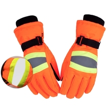 Workers Gloves Women Men Full Finger Water Resistant Reflective Thermal Fluffy Working Handwear Outdoor Cycling Skiing Sportwear цена