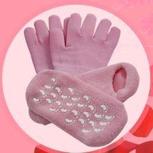 1 paar Gel SPA Feuchtigkeitsspendende Socken Weiche Baumwolle Bleaching Peeling Fuß Maske Glatte Haut Pflege Trockenen Behandlung Schönheit Lieferungen