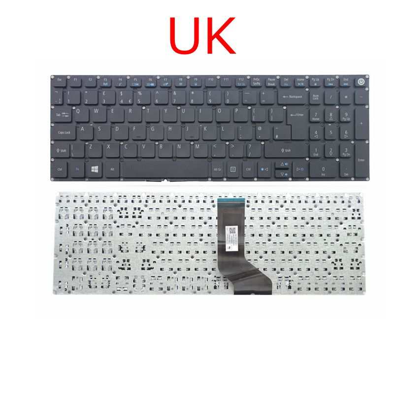 GZEELE UK GB Keyboard For Acer Aspire E5-522 E5-532 E5-573 E5-722 E5-575 E5-523 E5-552 V5-591G