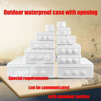 цена на Wholesale ABS Plastic IP65 IP66 Waterproof Junction Box DIY Outdoor Electrical Connection box Cable Branch box