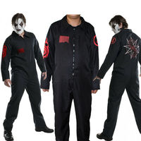 2019 Black Team Uniform Prison Suit Halloween Slipknot Band Cosplay Costume jumpsuit Adult Masquerade Clothes