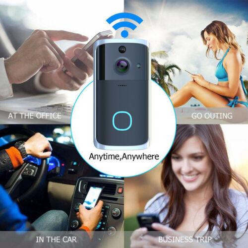 Smart WiFi Doorbell Camera Video Wireless Remote Door Bell CCTV Chime Phone APP IR Video Camera Intercom Record