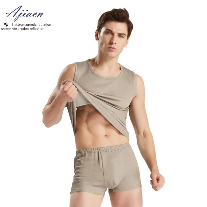 Genuine Electromagnetic Radiation Protective Men's Underwear Protect Health EMF Shielding Silver Fiber Close-fitting Underwear