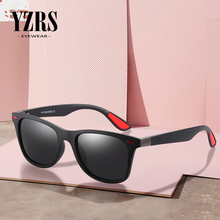YZRS Brand Polarized Sunglasses Men Women Classic Retro Square Frame Lighter Design Rivet 100%UV Protection Sun Glasses