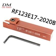 цена на 1pcs RF123E17-2020B 20mm External grooving turning holder Suitable for N123E2-0200-0200 2mm cnc lathe turning tool cutting inser