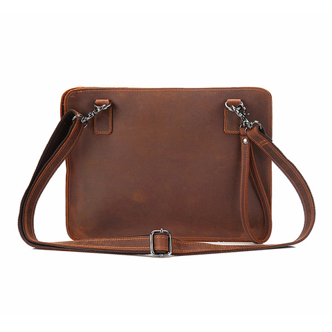 Vintage Crazy Horse Genuine Leather Business Briefcase Men Office Handbags iPad Laptop Messenger Bags For Male Purse  Bag Islamabad