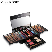 Maquillaje Profesional Miss Rose Makeup set 180 Color Matte & Shimmer Eyeshadow Palette Eye Shadow Make Up Kit  Makeup Pallete free shipping miss rose hexagon hand make up case makeup set of matte shimmer eye shadow blush powder eyebrow concealer lipgloss