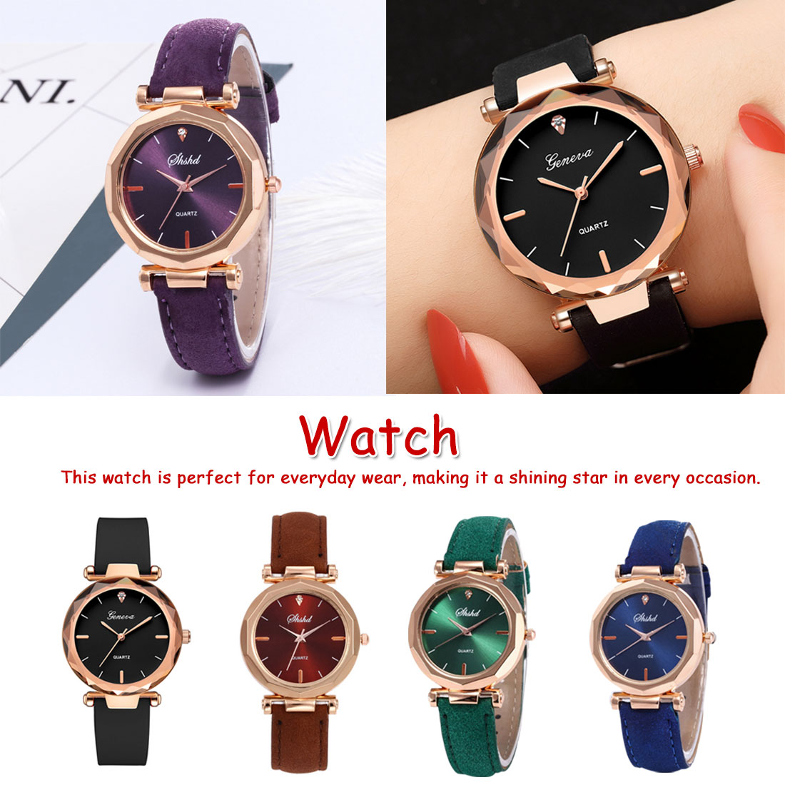 Quartz Wrist Watches Fashion Women Watches Leather Ladies Bracelet Watch Starry Sky Casual Female Clock