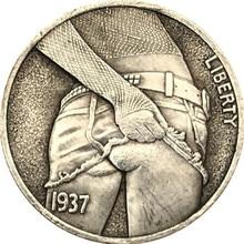 Souvenir Coins Skirt Collectibles Metal Antique 1937 Commemorative Home-Decor Morgan Hobo