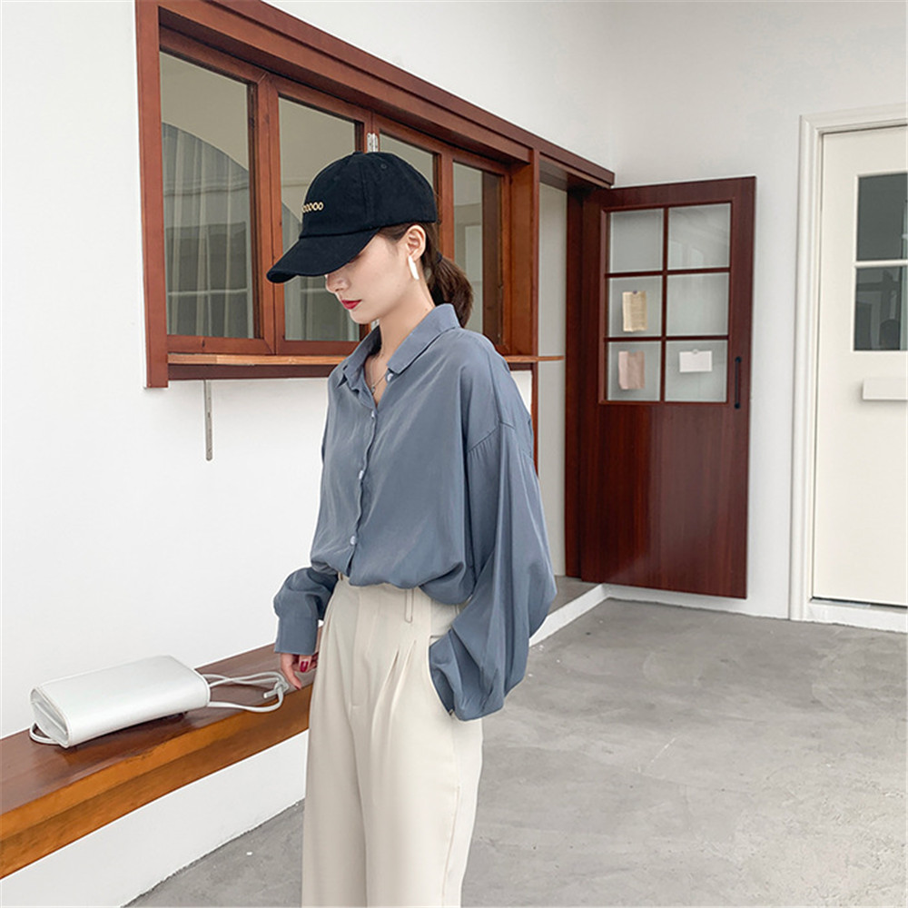 Spring Women Blouse 2020 Summer Blouse Korean Long Sleeve Womens Tops Blouses Vintage Woman Shirts Blusas Roupa Feminina Tops (12)
