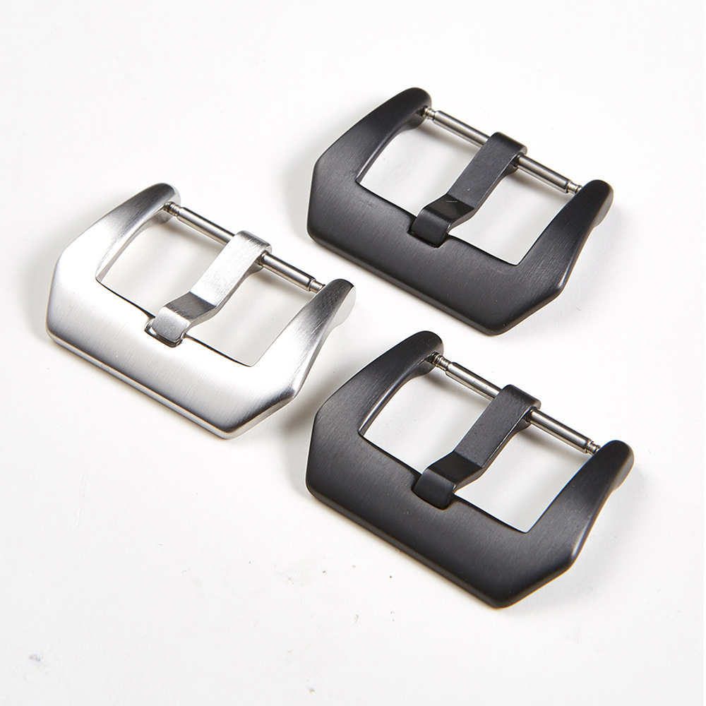 316 Stainless Steel Clasp Accessories 18 20 22 24mm Watchband Strap Silver Black Watch Band Buckle For Huawei Casio Armani