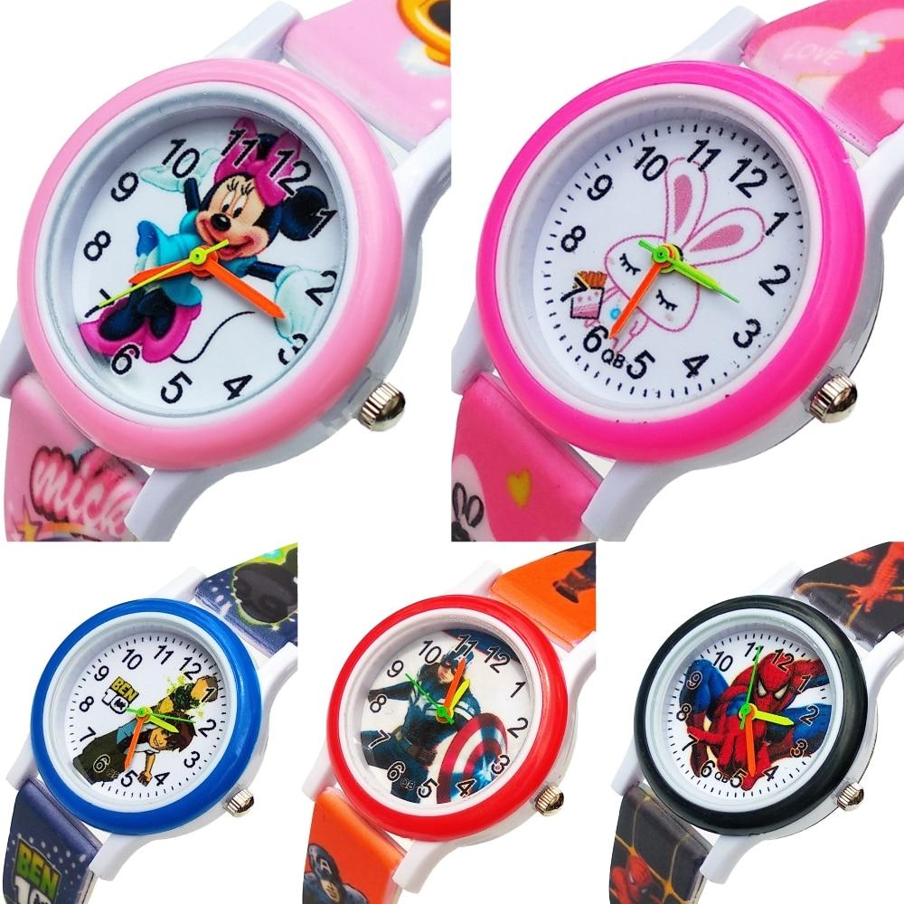 2020 New Silicone Children Watch For Boys Girls Gift Student Clock Cartoon Anime Team Baby Kids Watches Child Quartz Wristwatch