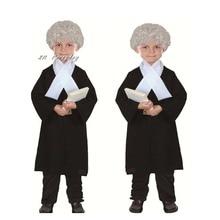 Nowe dzieci chłopiec dziewczyna prawnik kostium dzieci sędzia Cosplay kostiumy kostium na halloween dla dzieci Party Dress Supplies