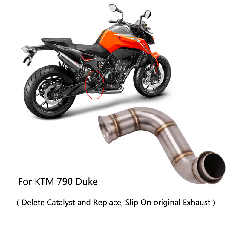 Mid Pipe for KTM <font><b>790</b></font> <font><b>Duke</b></font> Motorcycle Stainless Steel <font><b>Exhaust</b></font> Pipe Delete Replace Catalyst Middle Slip On Original Muffler image