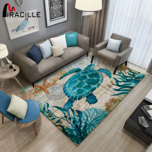 Miracille Big Turtle 3D Print Large Carpet Marine Animal Series Area Rugs For Living Room Non-slip Mat Home Decorative Pad