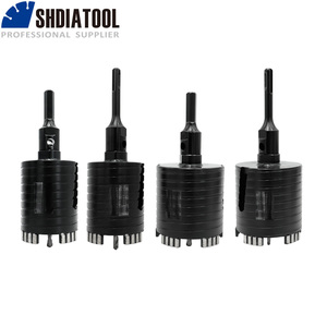 SHDIATOOL 1pc Dia 68/82mm 5/8-11 or M16 Laser Welded Diamond Core Drill Bit Including Center Drill and SDS-Plus or Hex Adapter