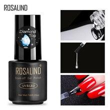 ROSALIND Гель-лак для ногтей верхнее Базовое покрытие 7 мл Алмазный прозрачный стойкий маникюр УФ ПРАЙМЕР гель лак для нейл-арта Базовое покрытие