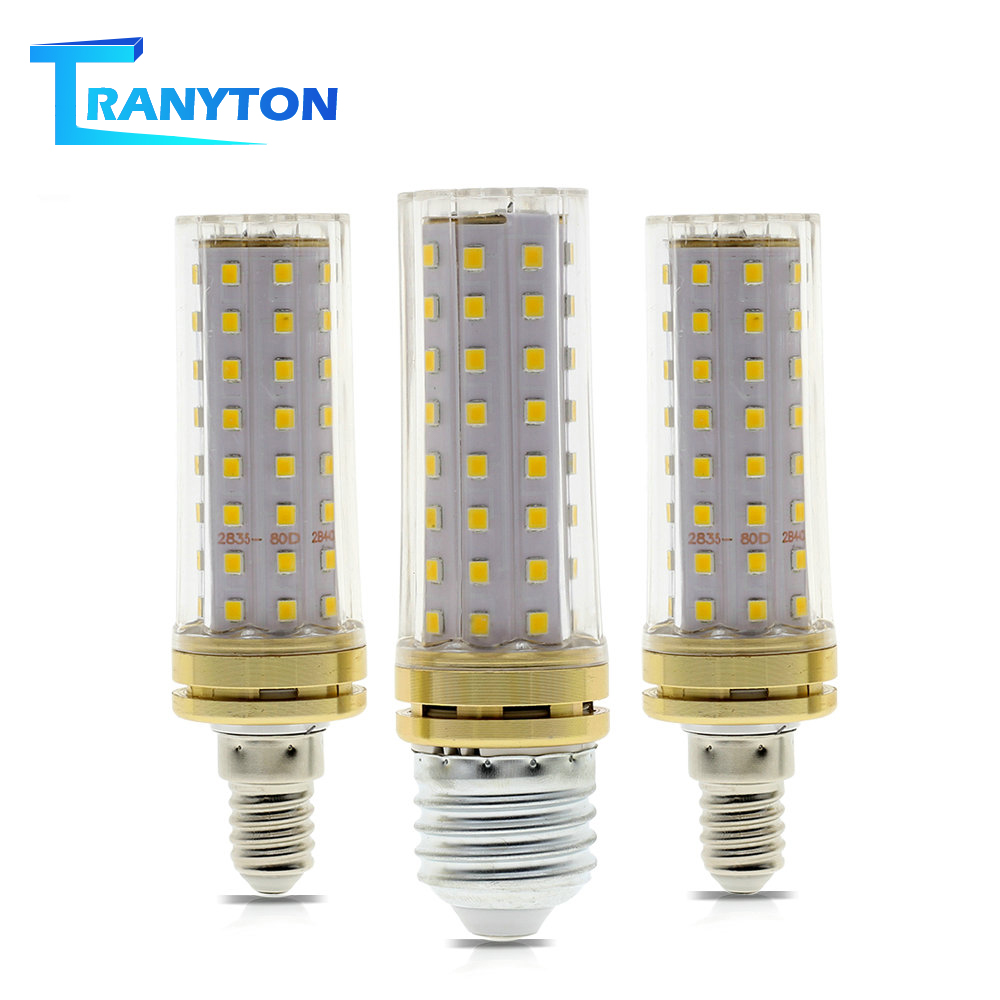 E27 E14 LED Bulb 9W LED Corn Bulb 110V 220V 80LEDs No Flicker Energy Saving Bulbs with Clear / Milky Cover for Home Decoration