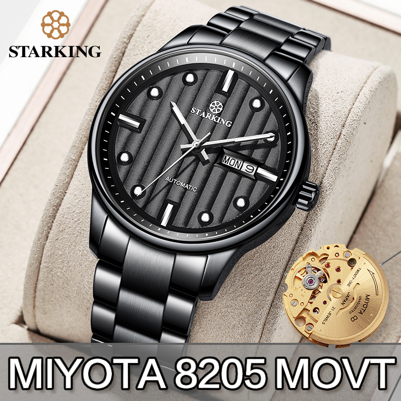 STARKING Men Watch Automatic Mechanical Watches Role Date Week Luxury Brand Japan Miyota Movt Wrist Watch Clock Sapphire Crystal