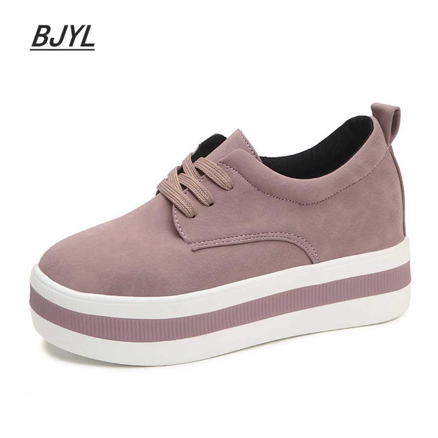 แพลตฟอร์มรองเท้าผู้หญิงแฟชั่นฤดูใบไม้ผลิ Casual หญิงรองเท้าสบายๆเดินรองเท้ายี่ห้อ Lycra ผู้หญิง Vulcanize รองเท้า 2020