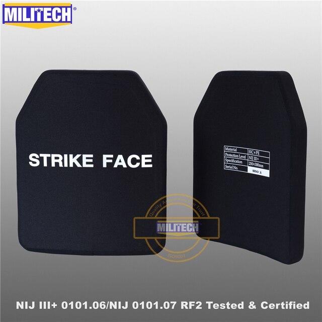 MILITECH SIC & PE NIJ III + 0101.06/NIJ 0101.07 RF2 10X12กระสุนแผ่นNIJระดับ3 + Stand Alone BallisticแผงAK47 & SS109 & M80
