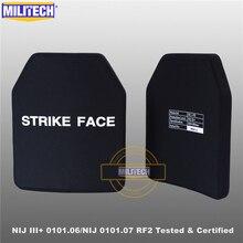 Пуленепробиваемая пластина MILITECH SIC & PE NIJ III + 0101,06/NIJ 0101,07 RF2 10x12, пуленепробиваемая пластина NIJ Level 3 + отдельная баллистическая панель AK47 и SS109 и M80